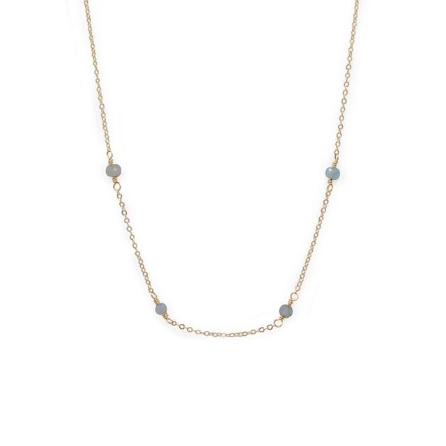 Able Halycon Necklace Labradorite / Gold