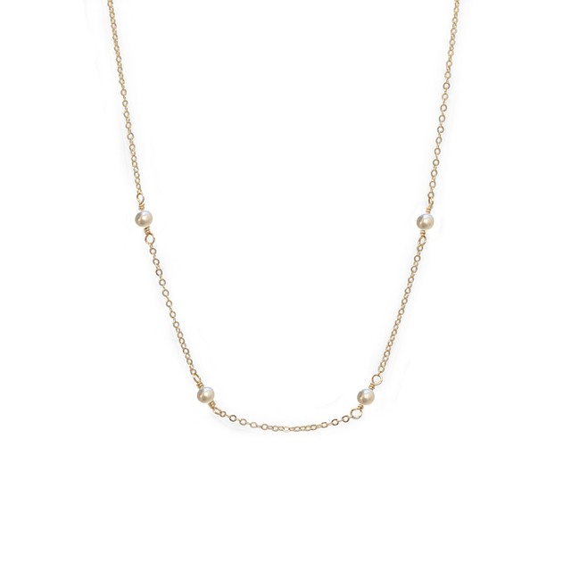 Able Halycon Necklace Pearl / Gold