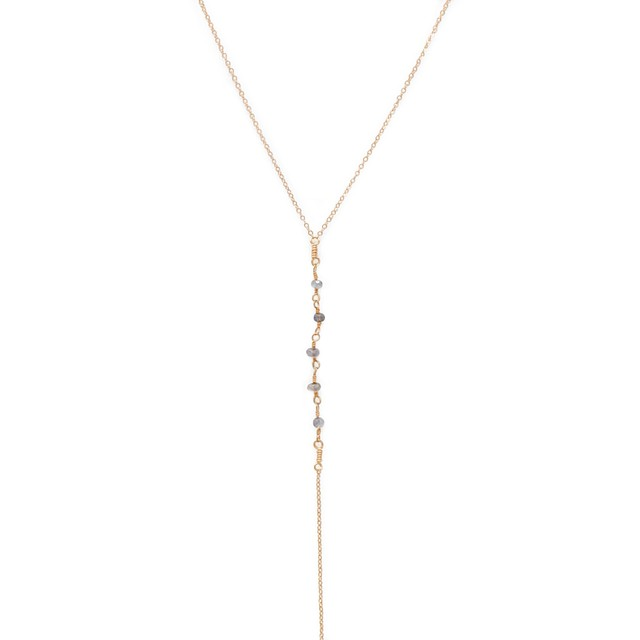 Able Jubilee Lariat Necklace Labradorite / Gold