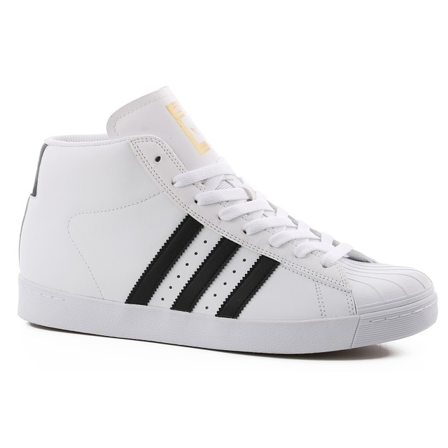 Adidas Pro Model Vulc ADV Footwear White/ Core Black/ Gold Metalic