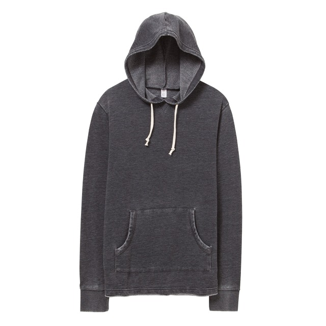 Alternative Apparel School Yard Hoodie Washed Black