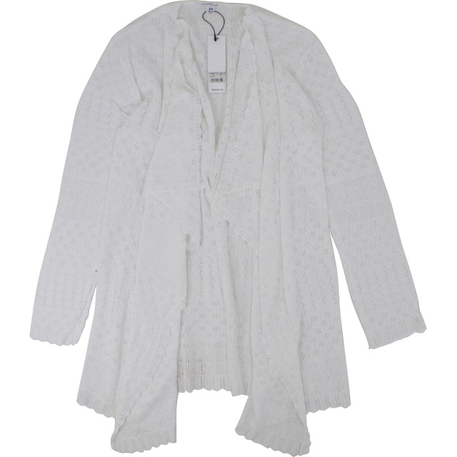 BB Dakota Janet Drop Needle Cardigan Ivory