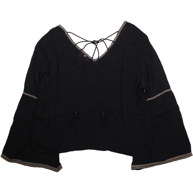 Z and L Bell Sleeve Black