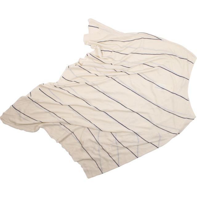 Mystree Bias Stripe Poncho Ivory/Navy