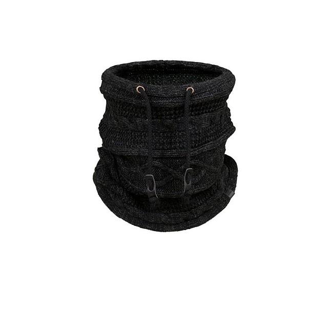 Bickley & Mitchell Cable Knit Snood Black Twist