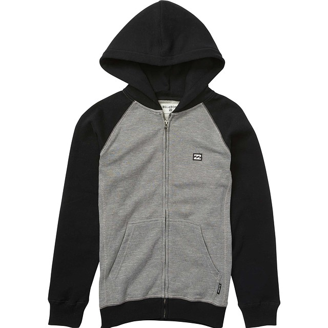 Billabong Little Kids Balance Zip Hoody Black Heather