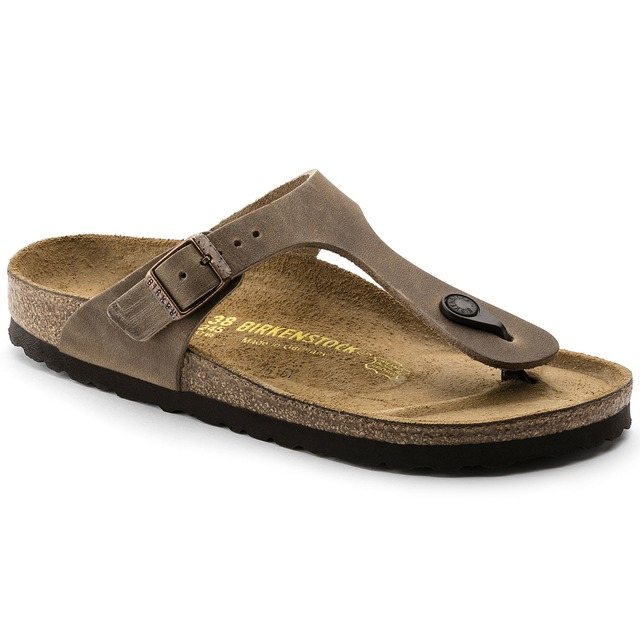 Birkenstock Gizeh Tobacco Oil Leather