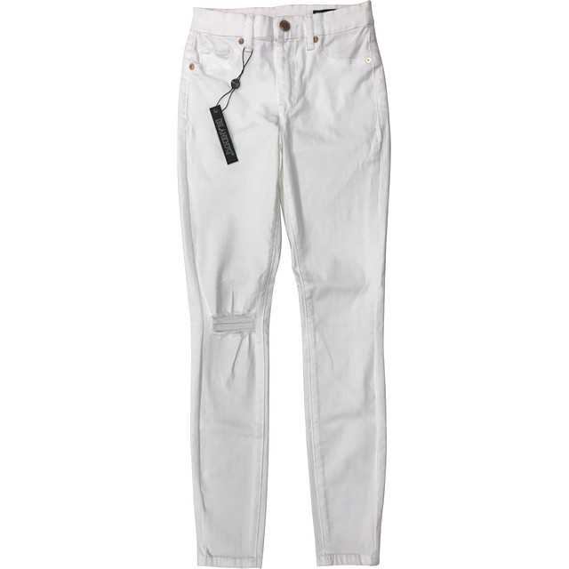 BlankNYC Great White Distressed Skinny White