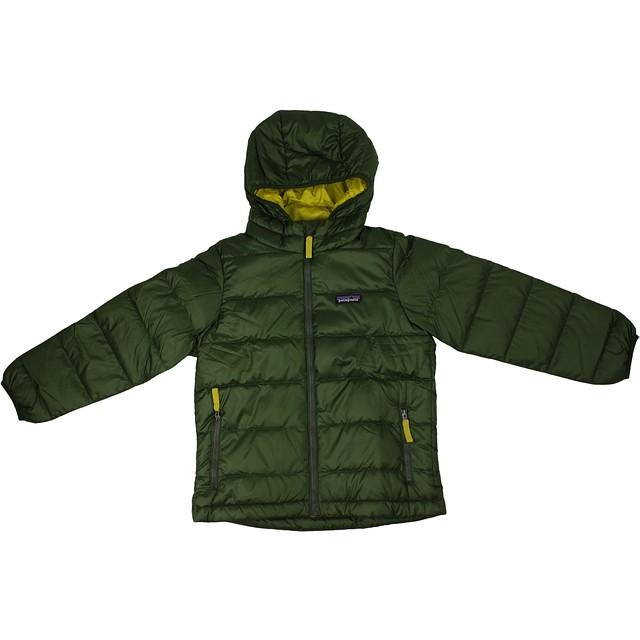 Patagonia Boys Hi-Loft Down Sweater Glades Green