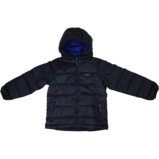 Patagonia Boys Hi-Loft Down Sweater Navy Blue