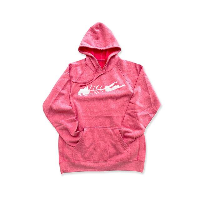 Carleton Youth LI Fish Hoodie Pink Heather