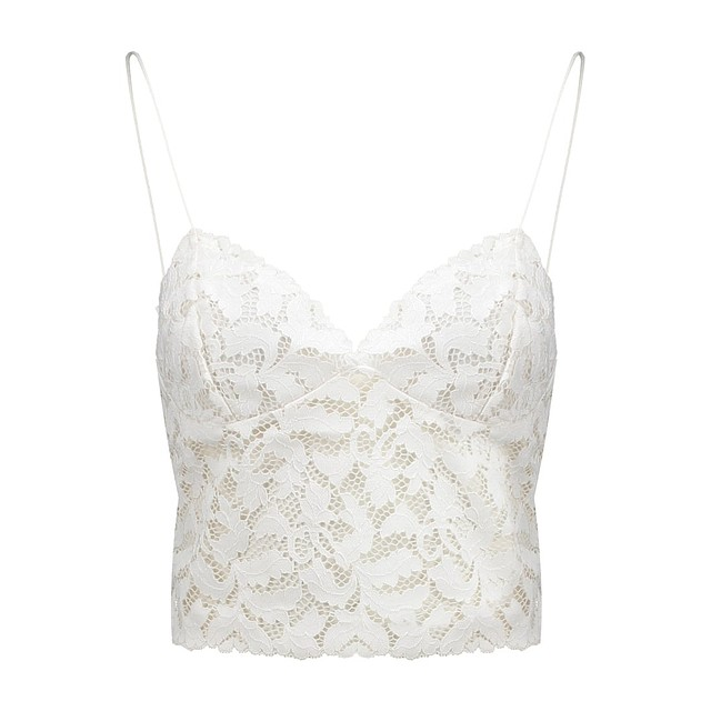 Free People Lacey Lace Brami Ivory