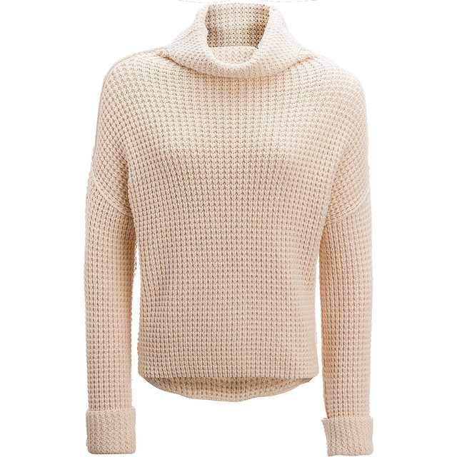 Free People Park City Pullover Ivory