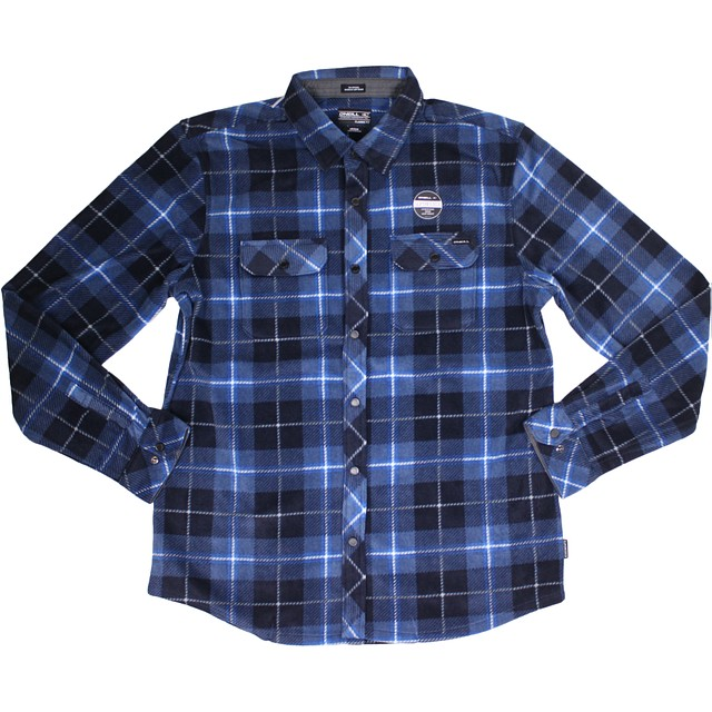 O'Neill Glacier Series Two Navy Plaid