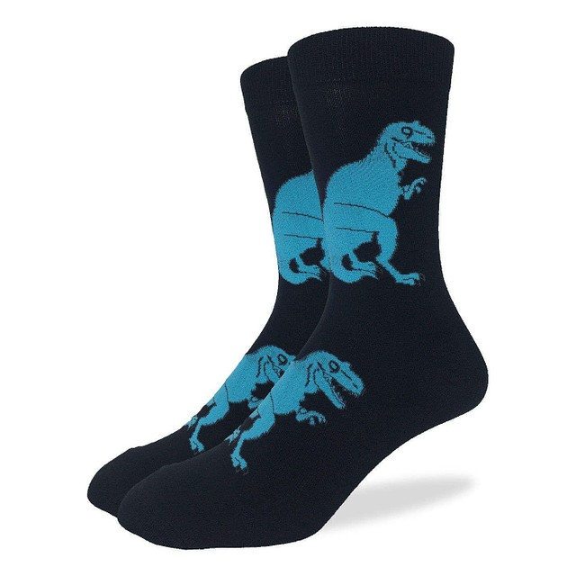 Good Luck Socks Black T-Rex