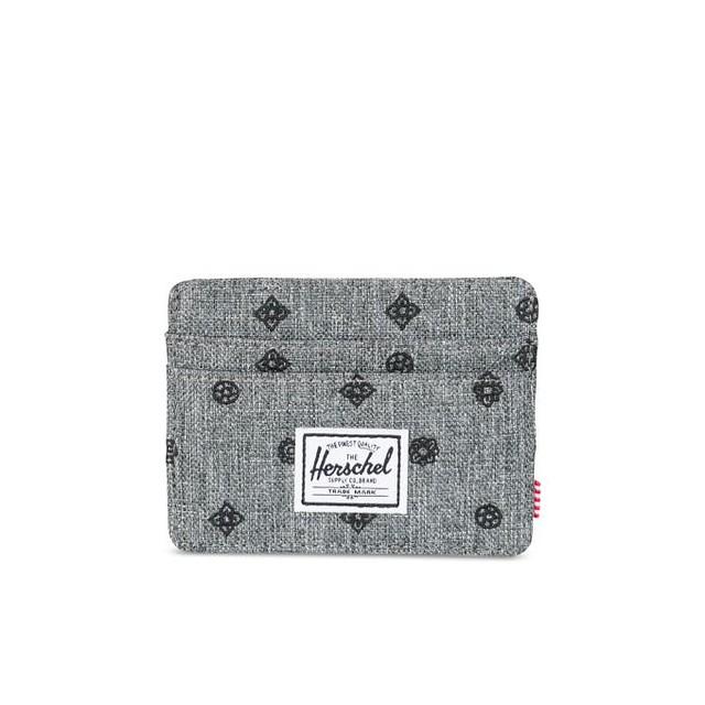 Herschel Charlie+ RFID Blocking Raven Crosshatch Embroidery