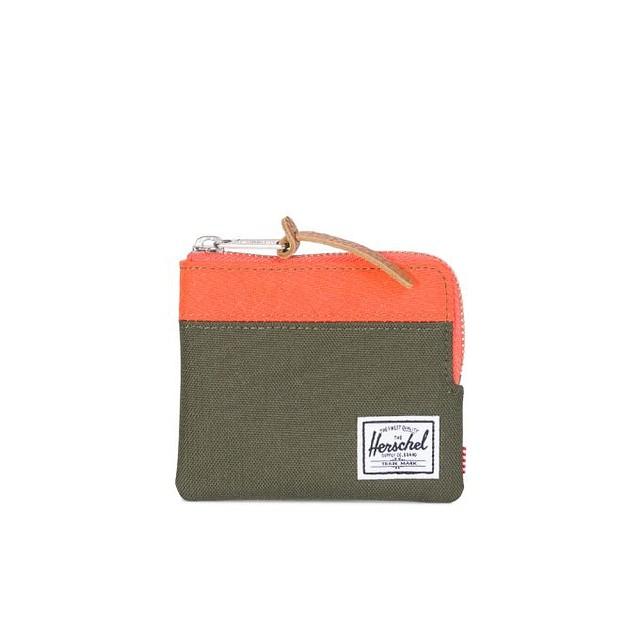 Herschel Johnny RFID Blocker Forest Night/ Vermillion Orange