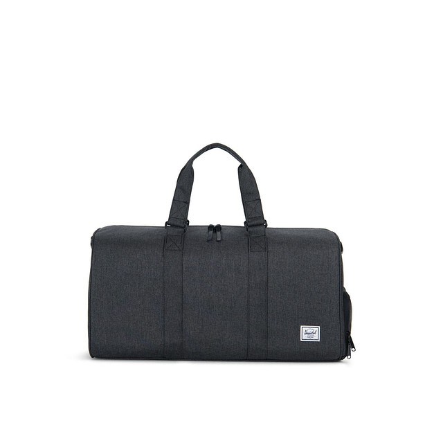 Herschel Novel Mid Black Crosshatch