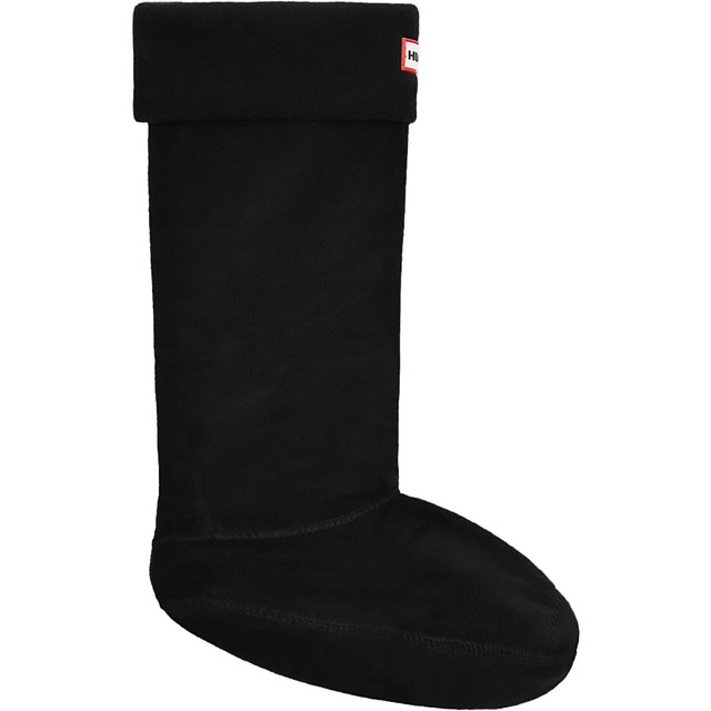 Hunter Original Tall Fleece Welly Boot Black