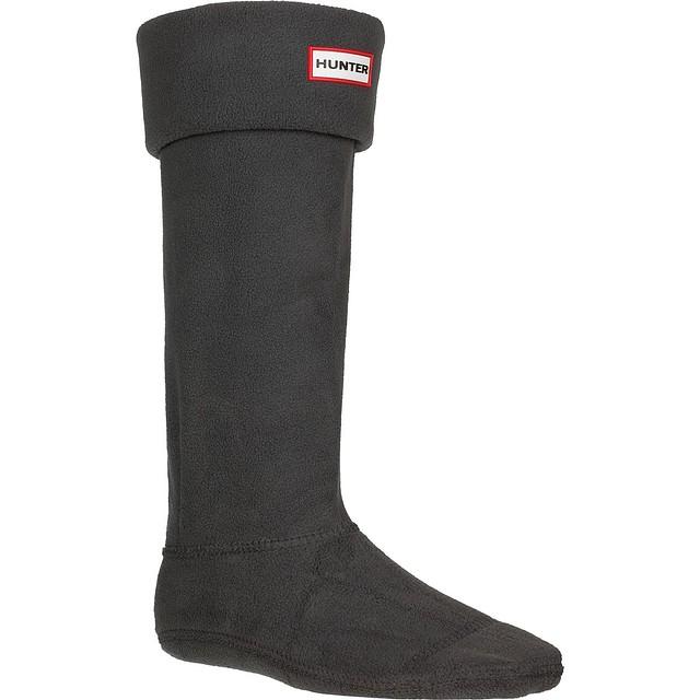 Hunter Original Tall Fleece Welly Boot Dark Slate