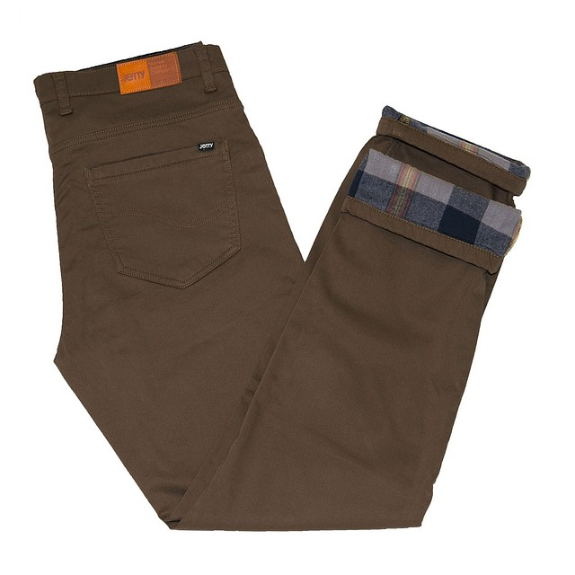 Jetty Flanstone Flannel Lined Brown