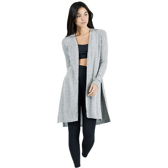 Joah Brown Luna Cardigan Salt and Pepper Hacci