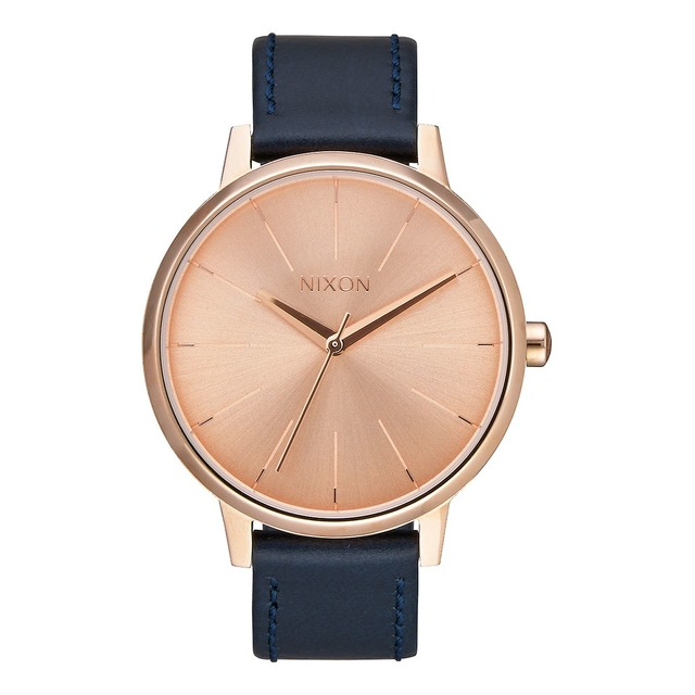 Nixon Kensington Leather Rose Gold / Navy