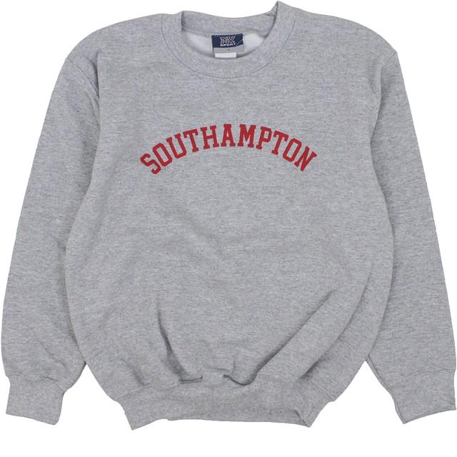 MV Sport Youth Classic Southampton Fleece Crewneck Gray