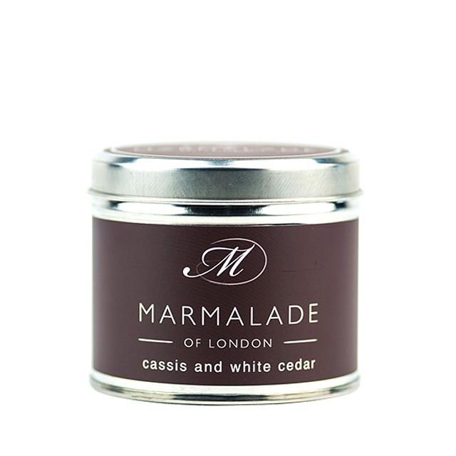 Marmalade of London Medium Tin Cassis and White Cedar