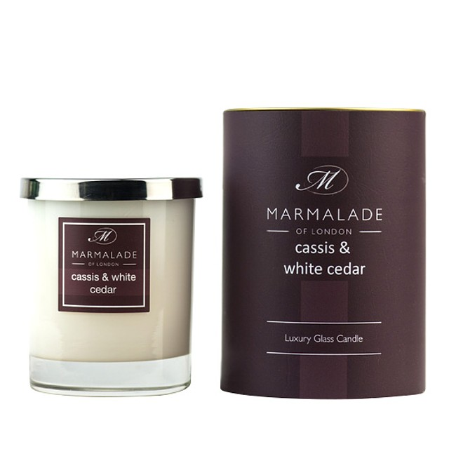 Marmalade or London Glass Candle Gift Cassis and White Cedar