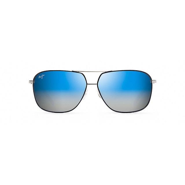 Maui Jim Kami Silver w/Navy Blue/Dual Mirror Blue/Silver