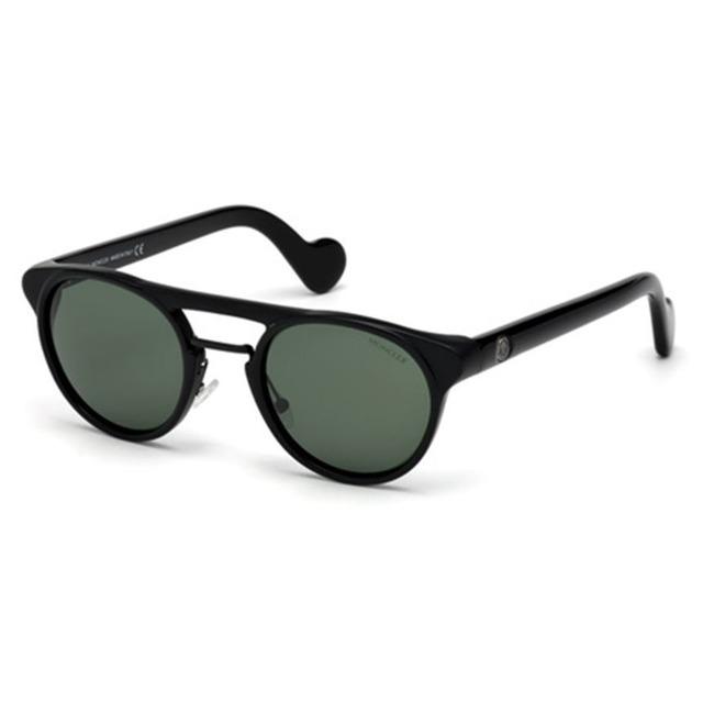 Moncler ML0019 Shiny Black/ Green