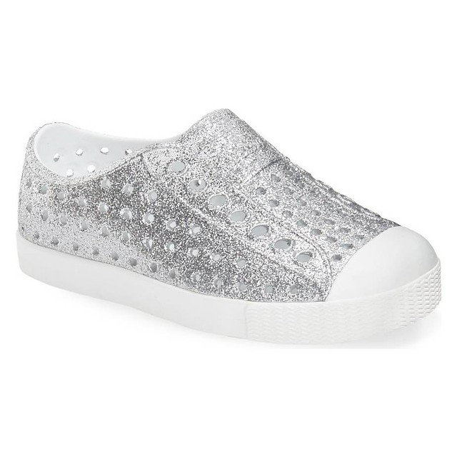 Native Footwear Jefferson Junior Bling Silver Bling/ Shell White