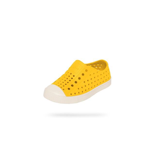 Native Footwear Jefferson Crayon Yellow/ Bone White