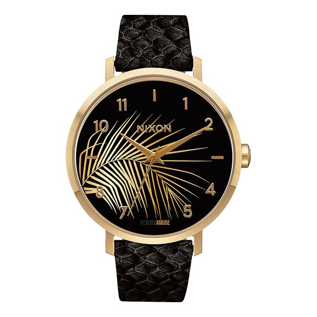 Nixon Arrow Leather Gold/ Black/ Palm