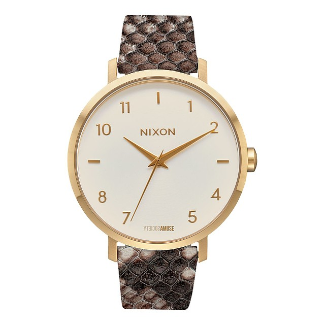 Nixon Arrow Leather Gold/ Taupe/ Amuse