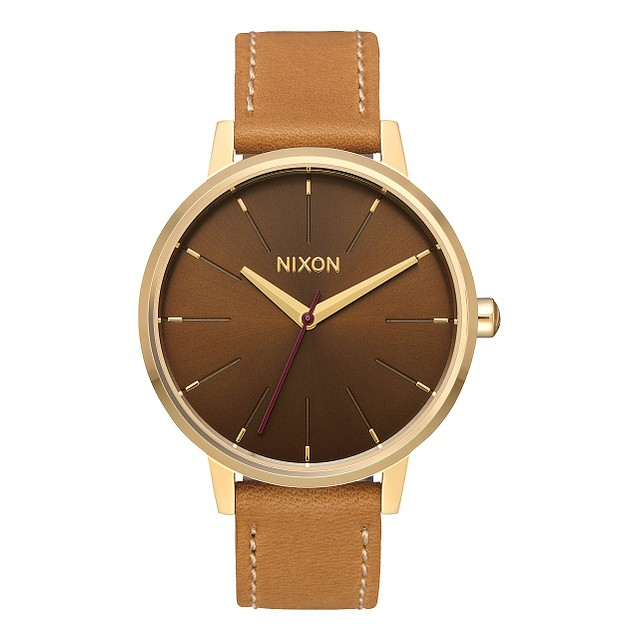 Nixon Kensington Leather Light Gold/ Manuka Saddle