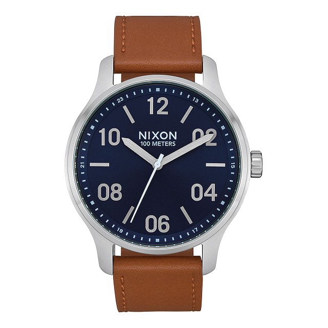 Nixon Patrol Leather Navy/Saddle