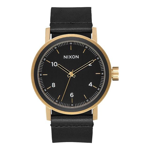 Nixon Stark Leather All Black/ Gold