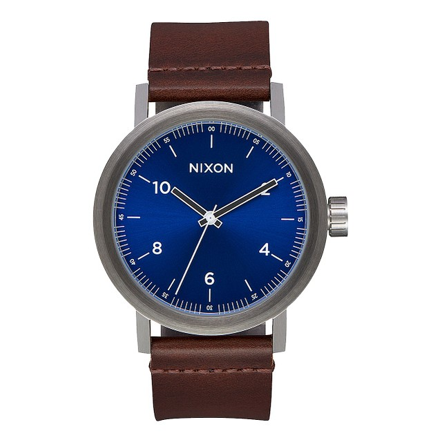 Nixon Stark Leather Blue Sunray/ Brown