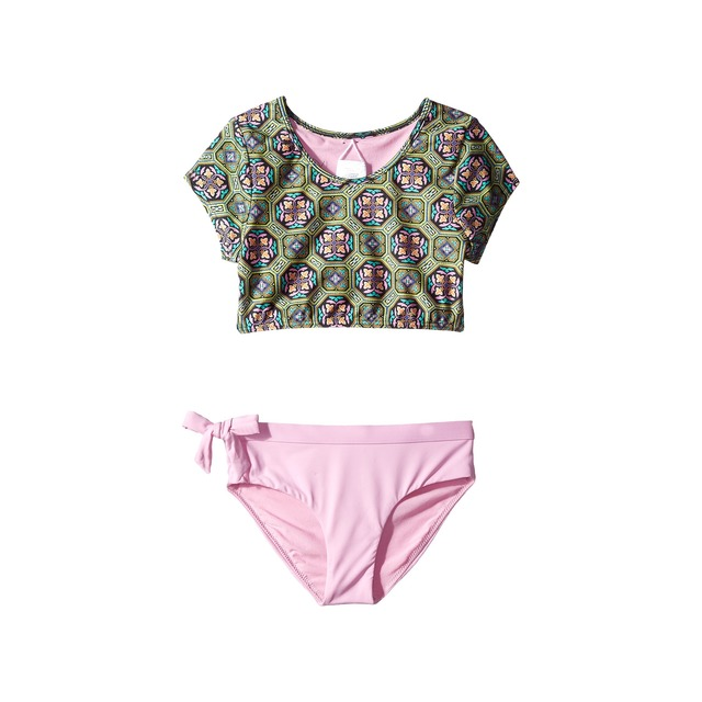 O'Neill Evelyn Sleeved Cropped Tankini Set Multi