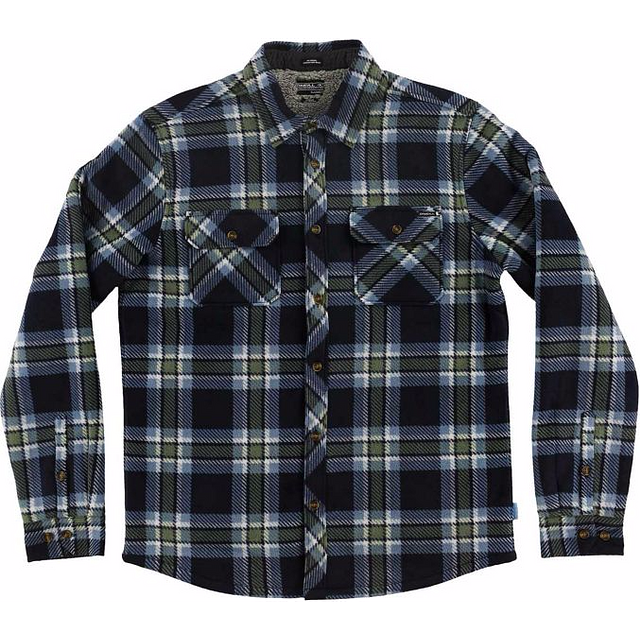 O'Neill Glacier Heat Dome Navy Plaid