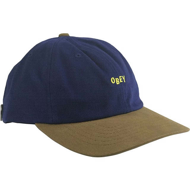 Obey 90's Jumble 6 Panel Royal / Tan