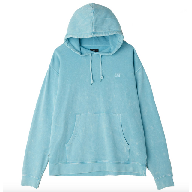 Obey Fade Pigment Pullover Hood Cool Blue