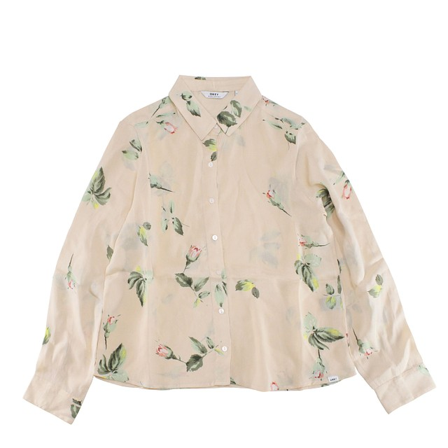 Obey Sinclair High-Low Button Down Taupe