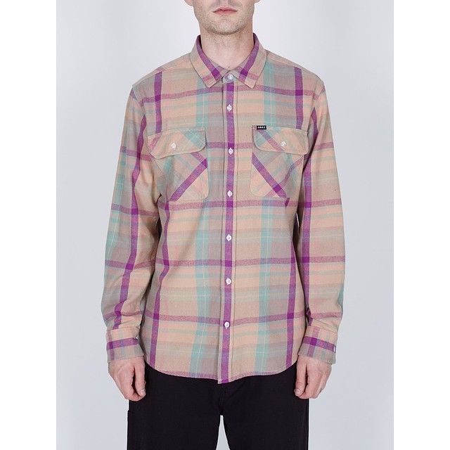 Obey Trapper Woven Light Mauve Multi