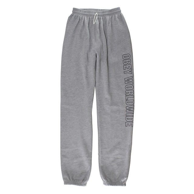 Obey Worldwide Outline Jogger Heather Grey