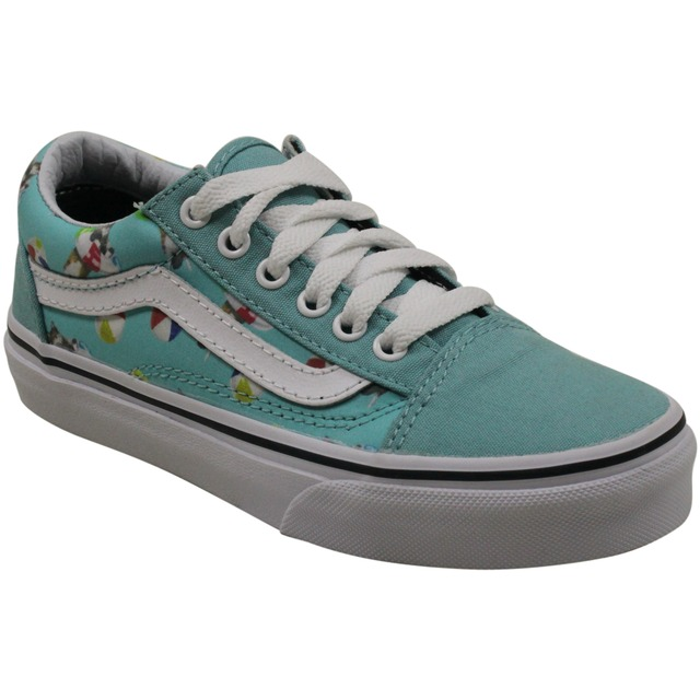 Vans Old Skool (Pool Vibes) Aqua Sea/ True White