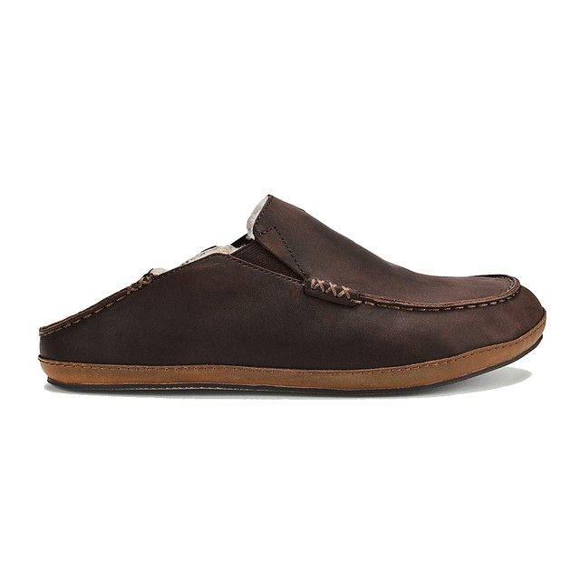 Olukai Moloa Slipper Dark Wood/ Dark Wood