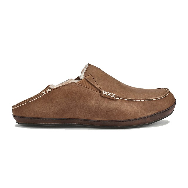 Olukai Moloa Slipper Toffee/ Dark Wood